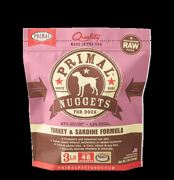 Primal Primal Raw Dog Turkey & Sardine 3lb