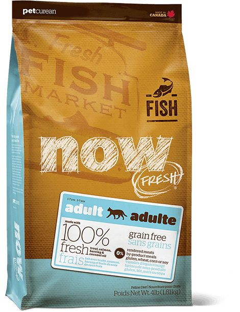Now Cat Fresh Grain Free Fish Adult 8lb