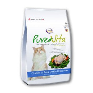 Pure Vita PureVita Grain Free Chicken & Peas Entrée for Cats- 6.6lb