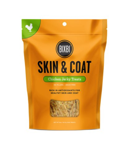 Bixbi Bixbi Skin & Coat Chicken Jerky 12oz