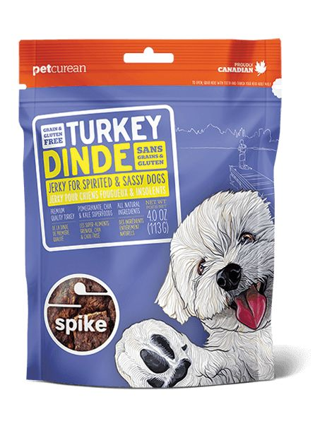 Petcurean Spike Treat Turkey Jerky 4oz