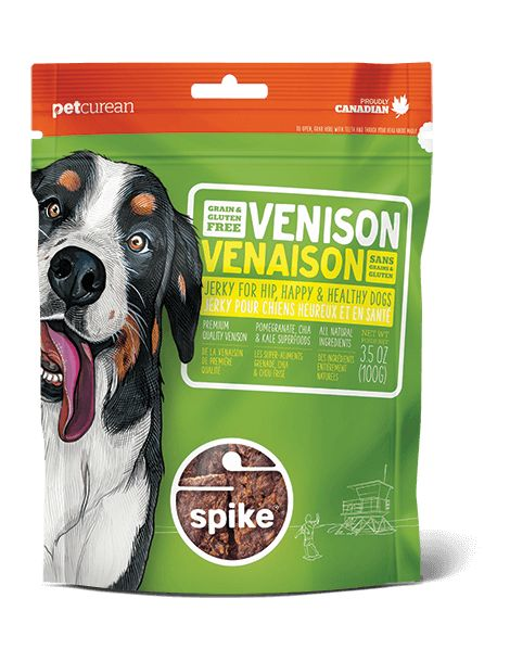Petcurean Spike Treat Venison Jerky 4oz