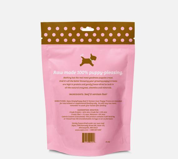 Sojos Sojos Puppy Simply Beef & Venison Liver 2.5oz