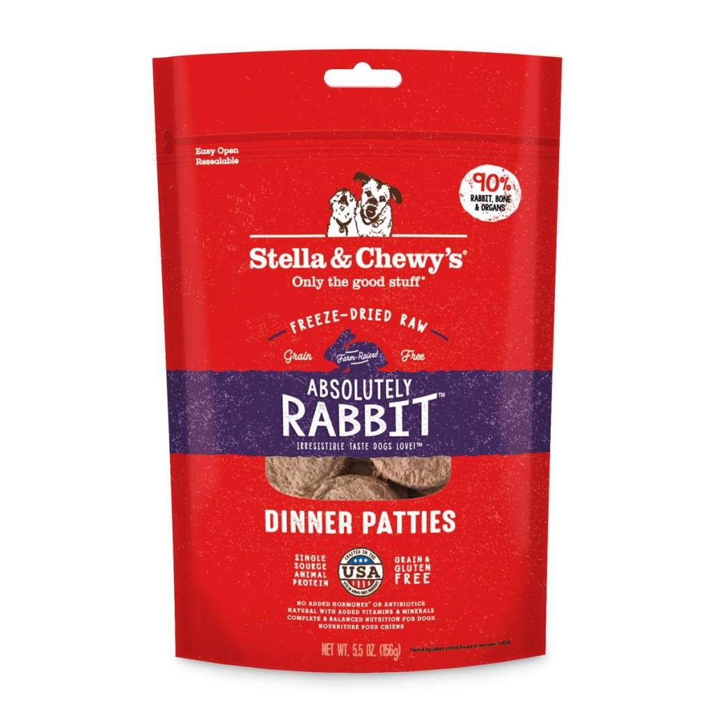 Stella & Chewys Stella & Chewy's Dog Freeze Dried Rabbit 5.5oz