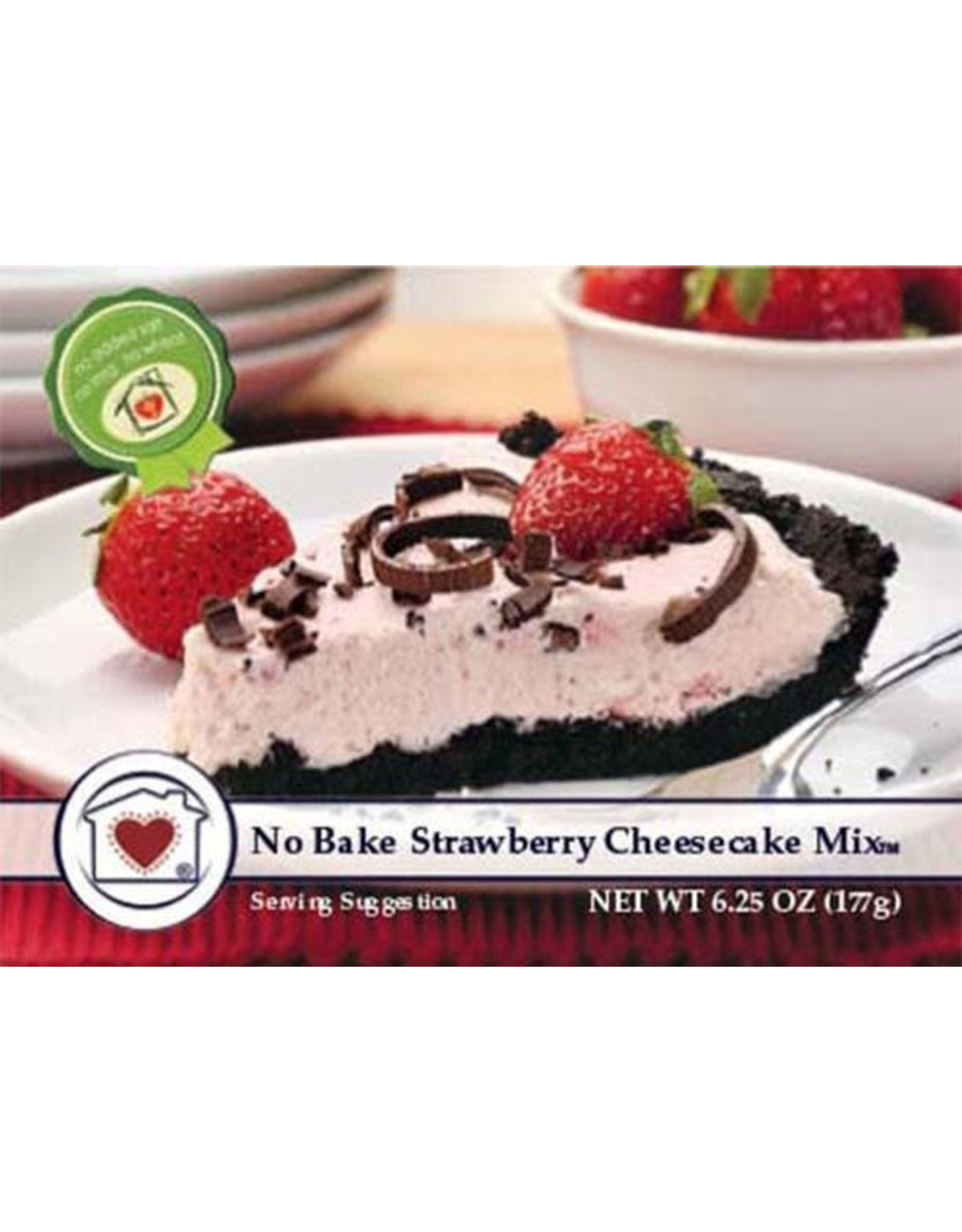 Country Home Creations STRAWBERRY NO BAKE CHEEECAKE