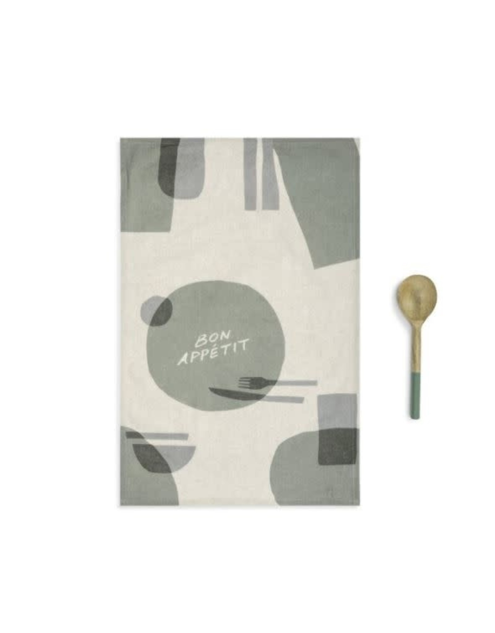 Demdaco BON APPETIT KITCHEN TOWEL AND UTENSIL SET