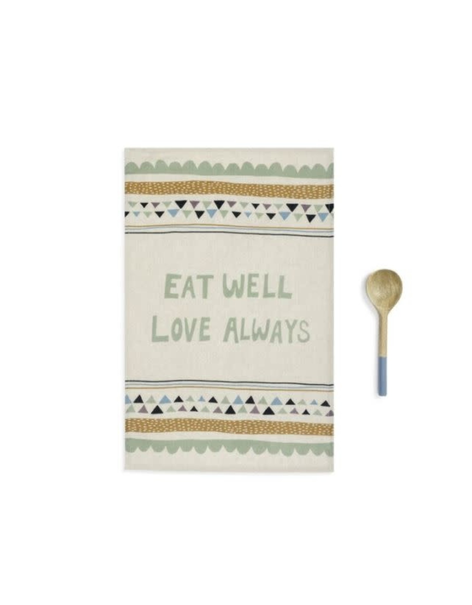 Demdaco EAT WELL KITCHEN TOWEL AND UTENSIL SET