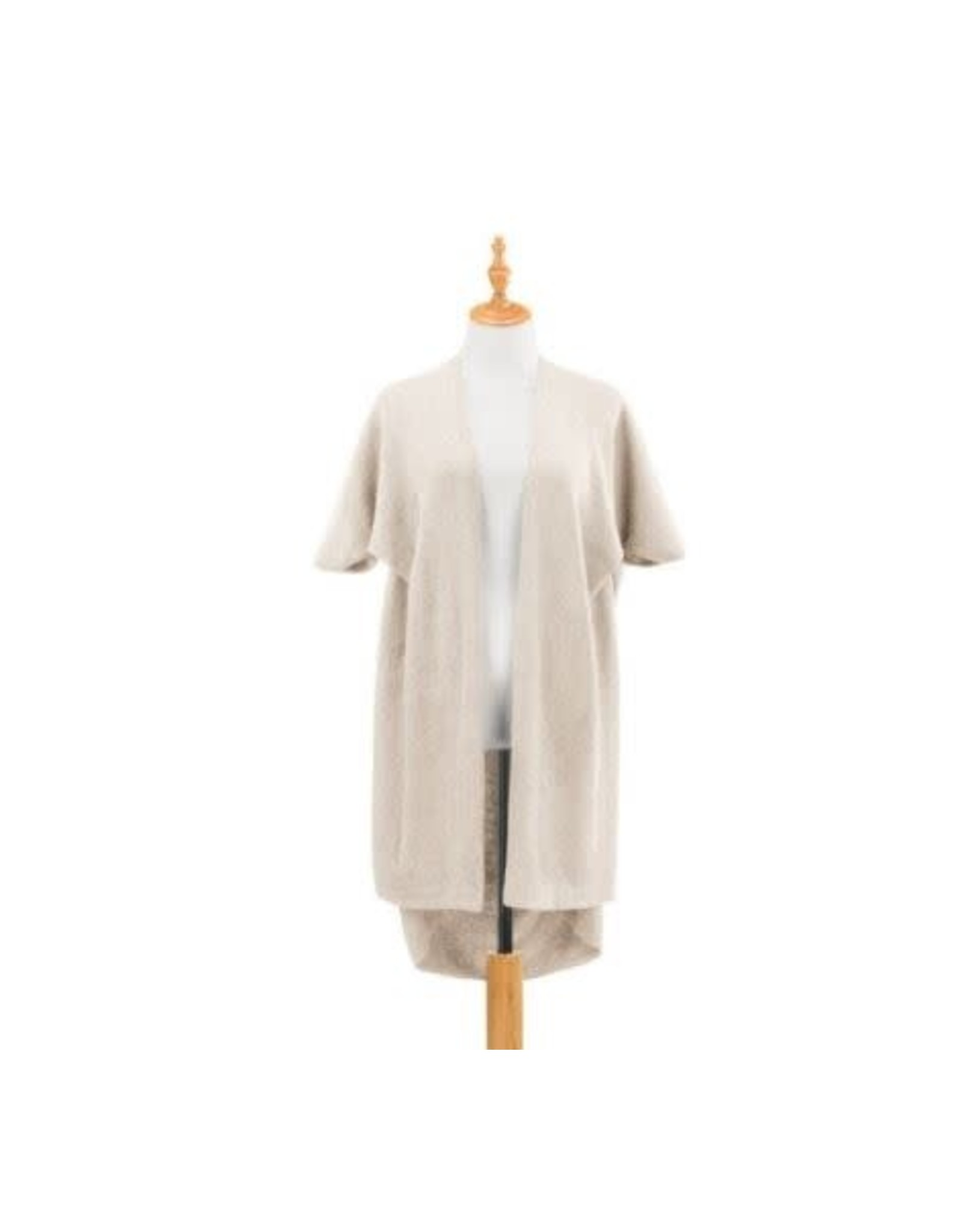 Demdaco TAUPE RECYCLED KNIT DUSTER