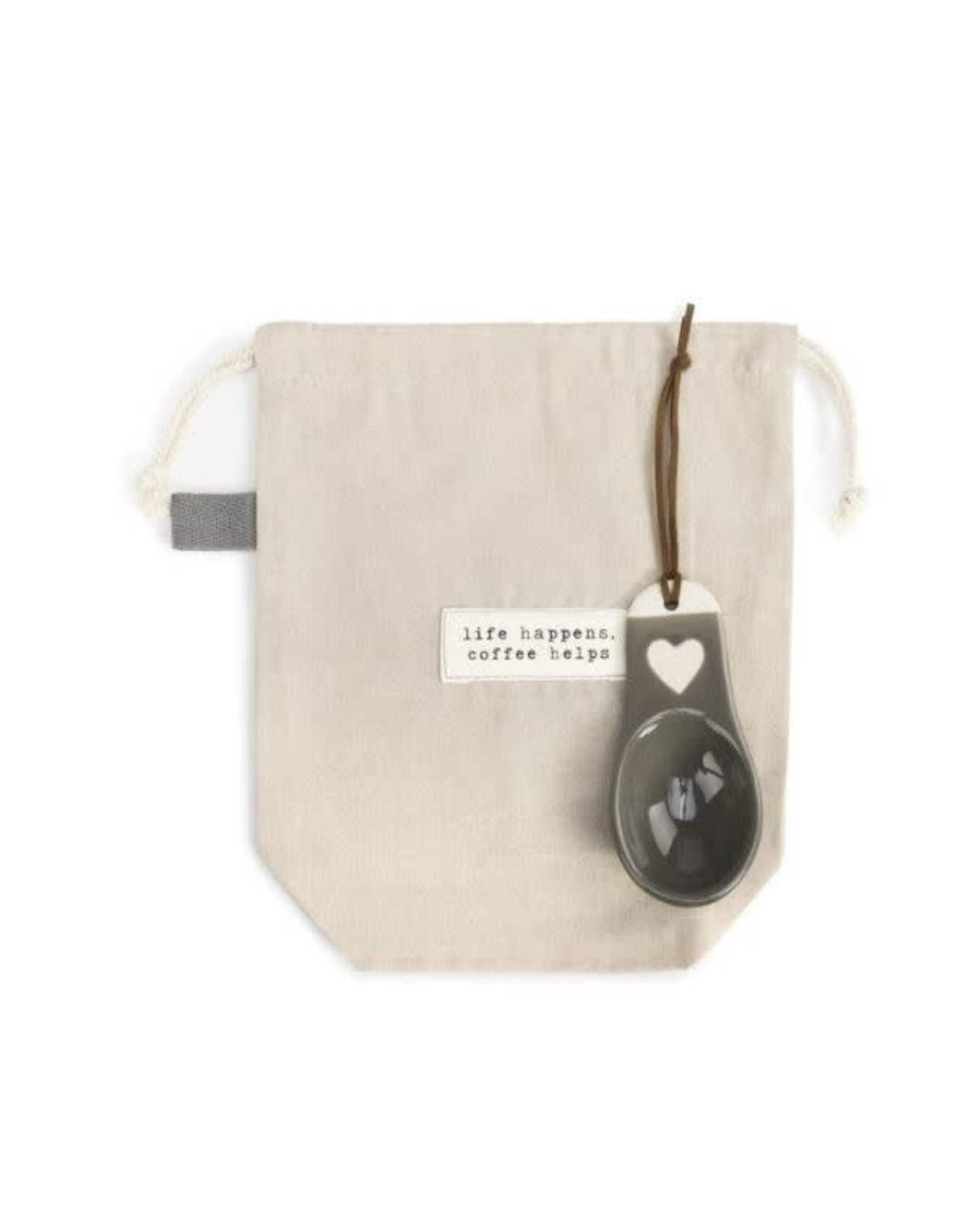 Demdaco LIFE HAPPENS COFFEE BAG WITH SCOOP
