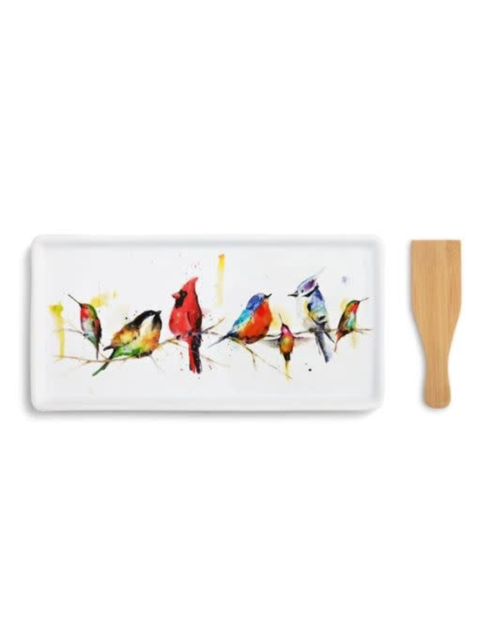 Demdaco LITTLE BIRDS APPETIZER TRAY WITH SPATULA