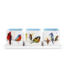 Demdaco LITTLE BIRDS HERB PLANTER SET