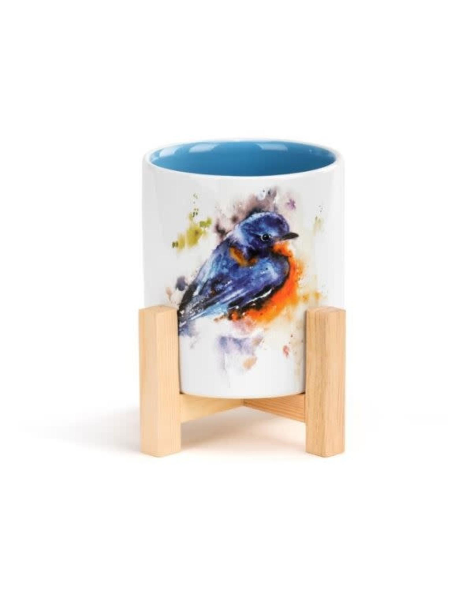 Demdaco BLUEBIRD MINI PLANTER