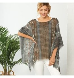 Demdaco TAN MIX TEXTURED PONCHO