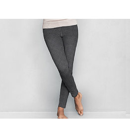DM Merchandising HOUNDSTOOTH FLEECE LEGGINGS