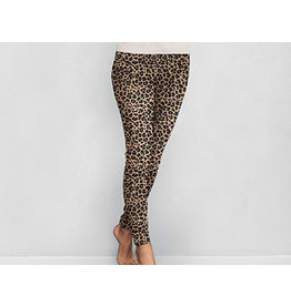 DM Merchandising LEOPARD FLEECE LEGGINGS