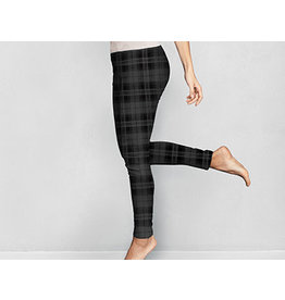 DM Merchandising PLAID FLEECE LEGGINGS