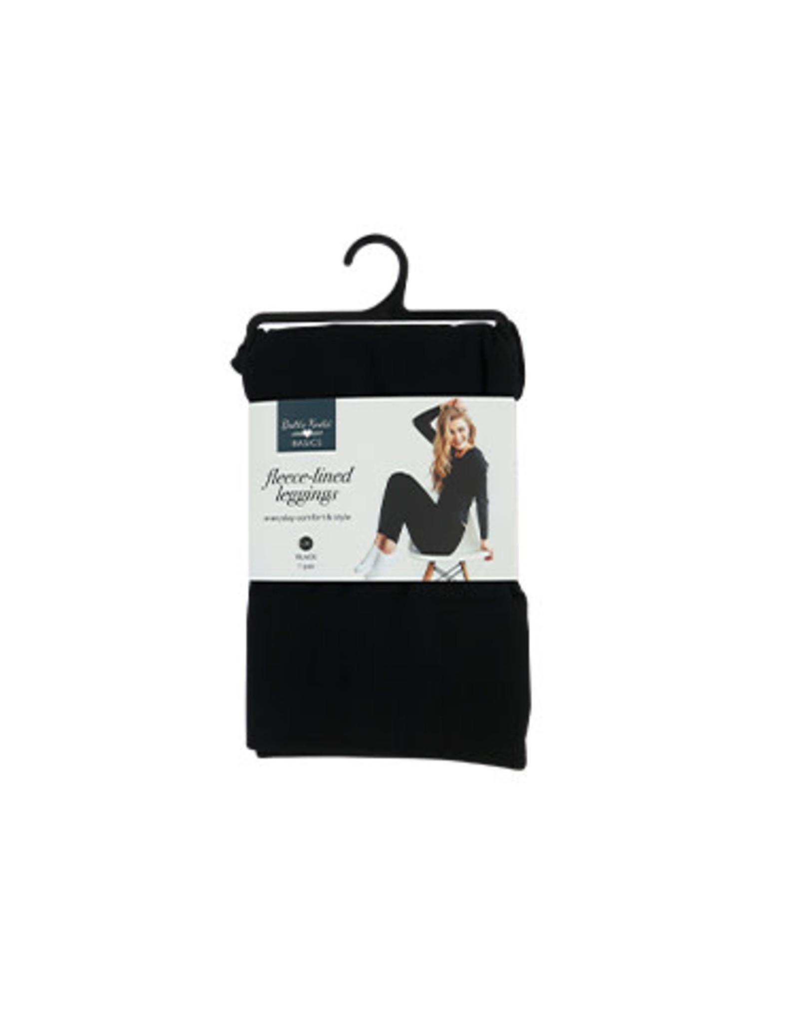 DM Merchandising BLACK FLEECE LEGGINGS