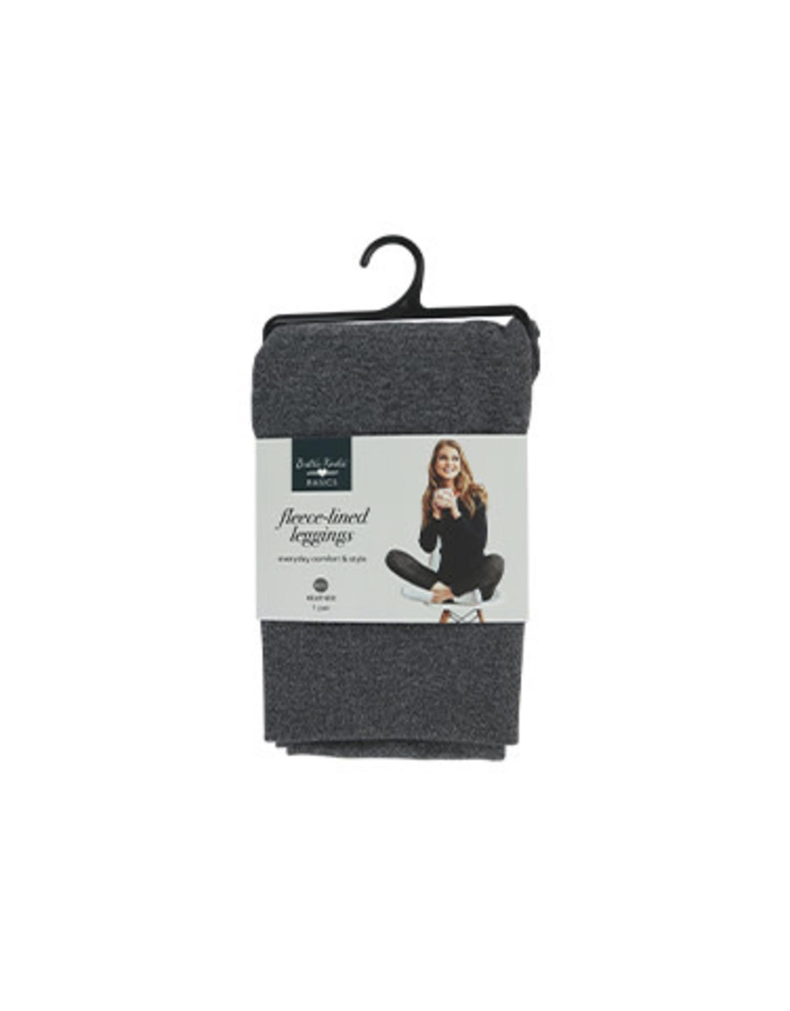 DM Merchandising GRAY FLEECE LEGGINGS