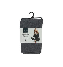DM Merchandising GRAY FLEECE LEGGINGS