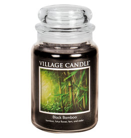 Village Candle BLACK BAMBOO JAR CANDLE