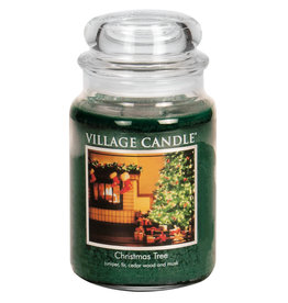 Village Candle CHRISTMAS TREE JAR CANDLE
