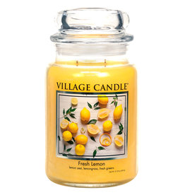 Village Candle FRESH LEMON JAR CANDLE