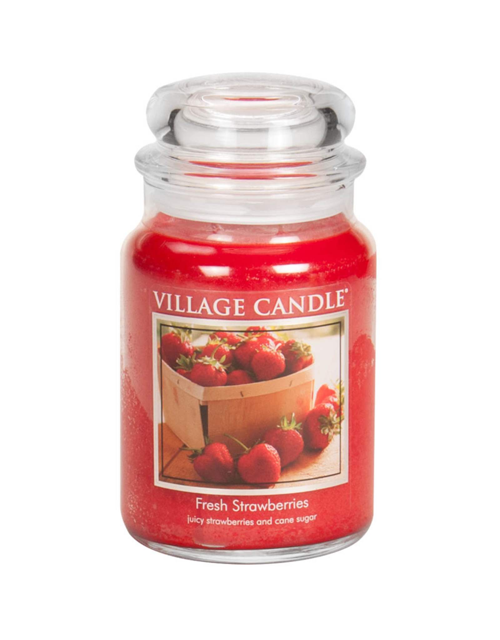 Stonewall Kitchen FRESH STRAWBERRIES JAR CANDLE