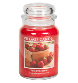 Village Candle FRESH STRAWBERRIES JAR CANDLE