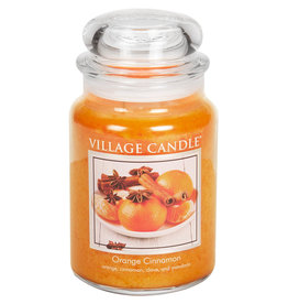 Village Candle ORANGE CINNAMON JAR CANDLE