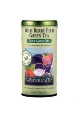 Republic of Tea WILD BERRY PLUM GREEN TEA