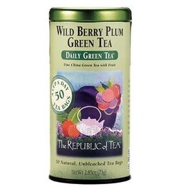 Republic of Tea WILD BERRY PLUM GREEN TEA