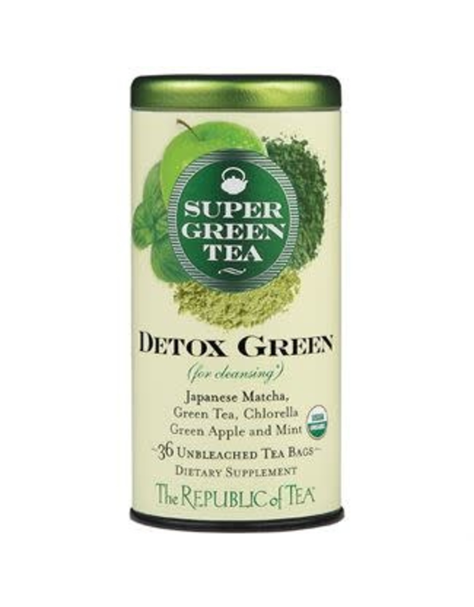 Republic of Tea SUPERGREEN DETOX GREEN TEA BAG