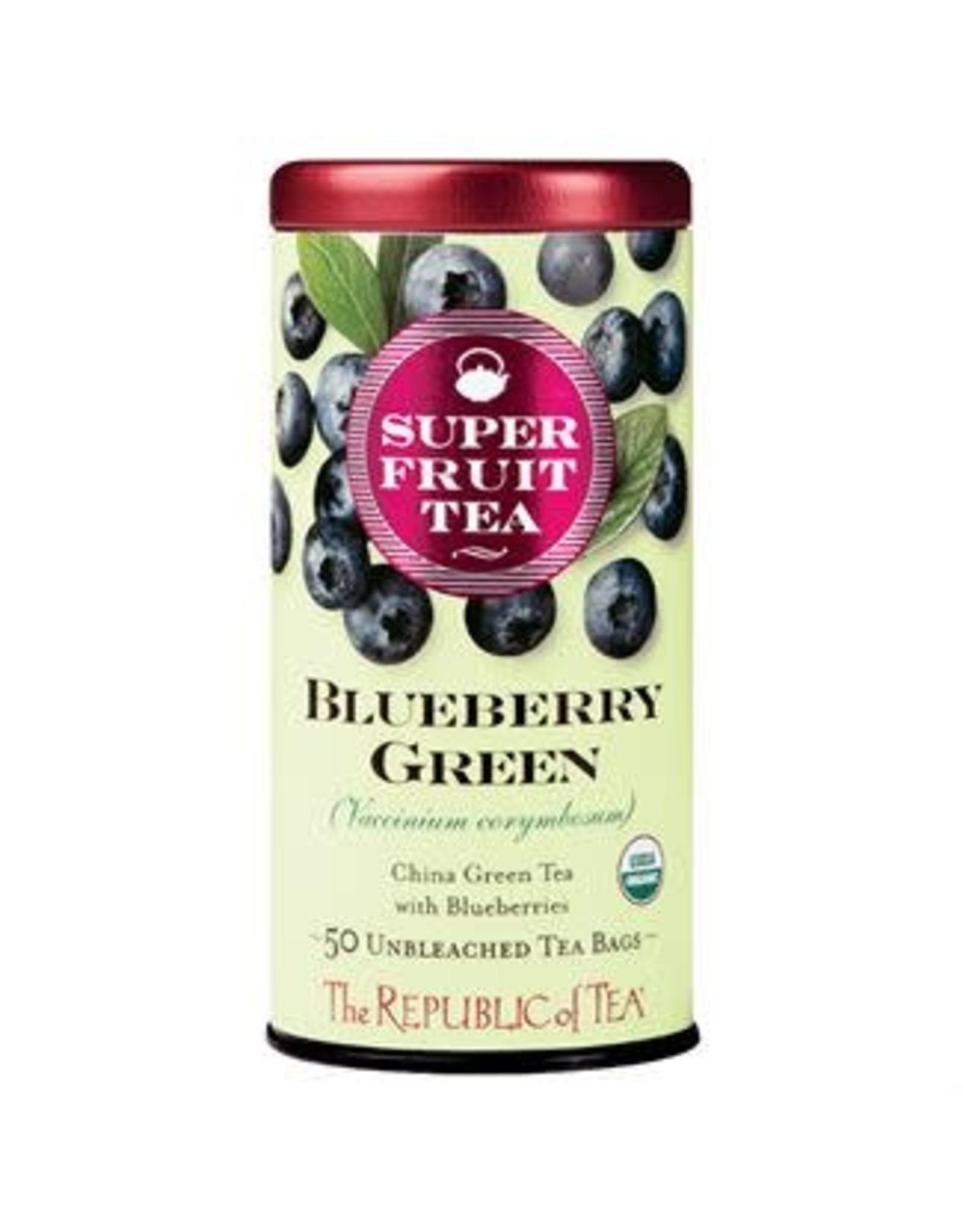 Republic of Tea SUPERFRUIT BLUEBERRY GREEN TEA