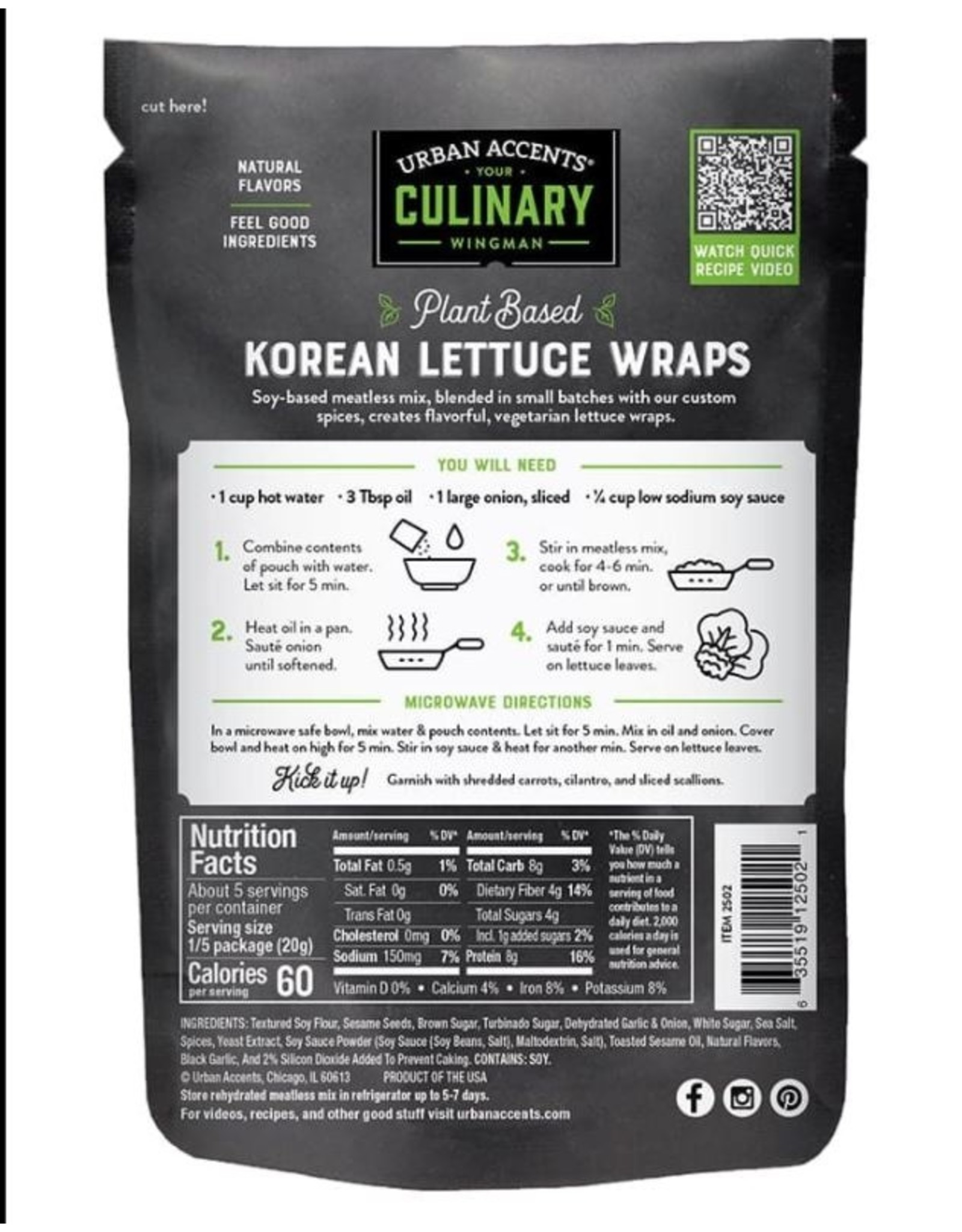 Urban Accents PLANT BASED KOREAN BBQ