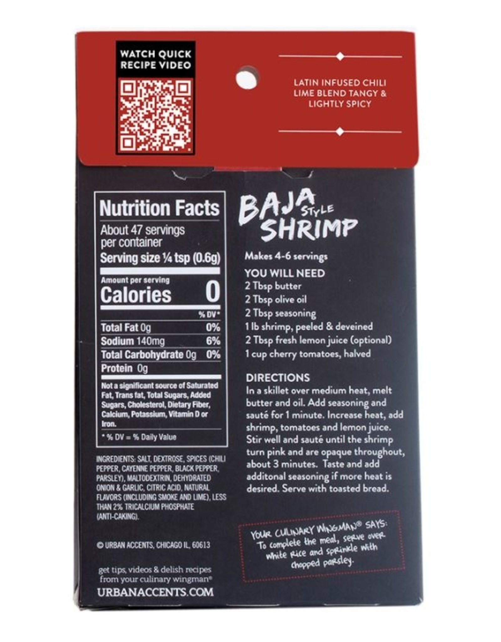 Urban Accents BAJA SHRIMP SEASONING MIX