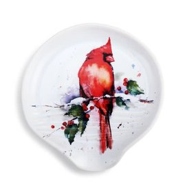 Demdaco CARDINAL AND HOLLY SPOON REST
