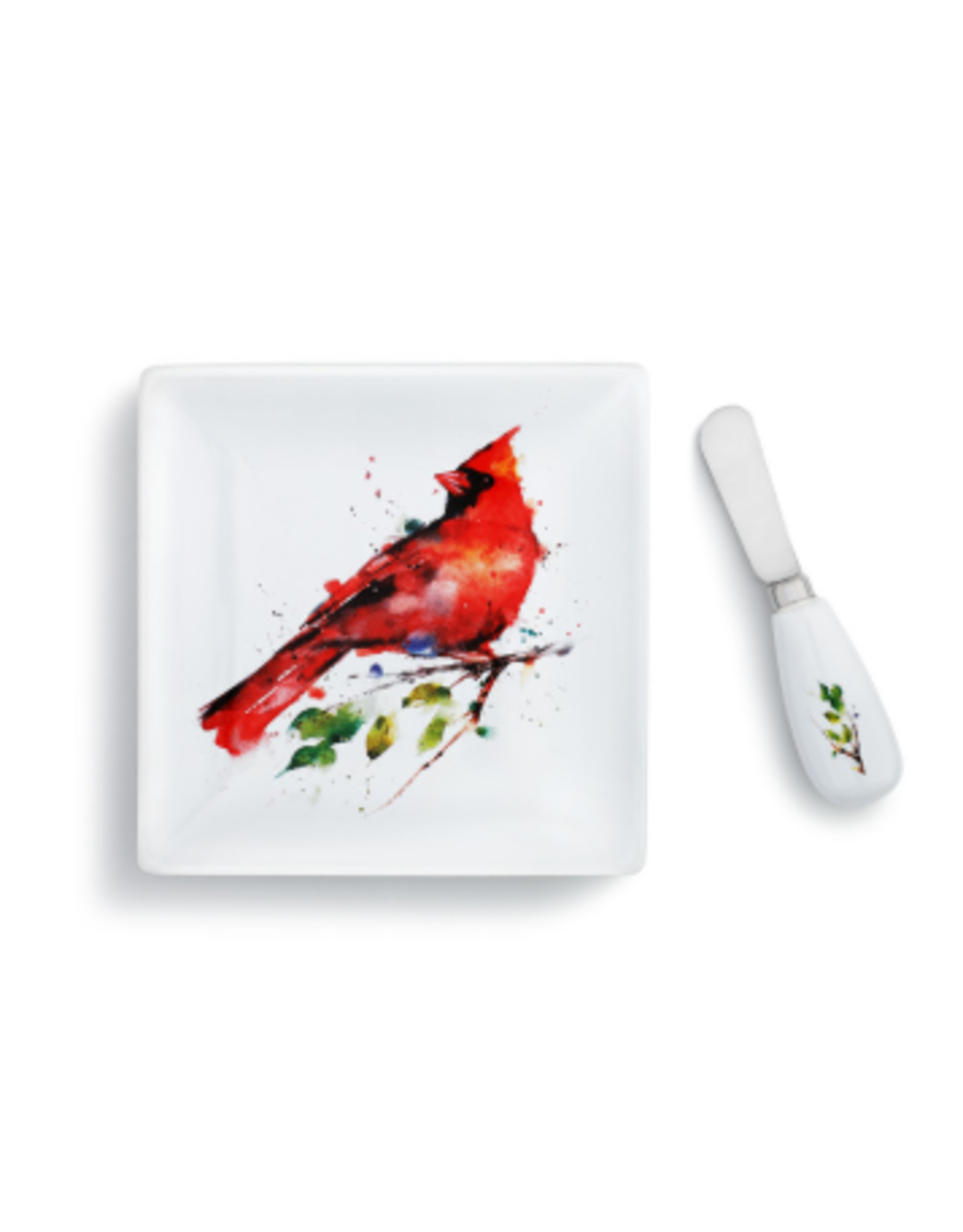 Demdaco CARDINAL PLATE WITH SPREADER