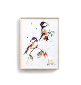 Demdaco CHICKADEES DROPPING IN WALL ART