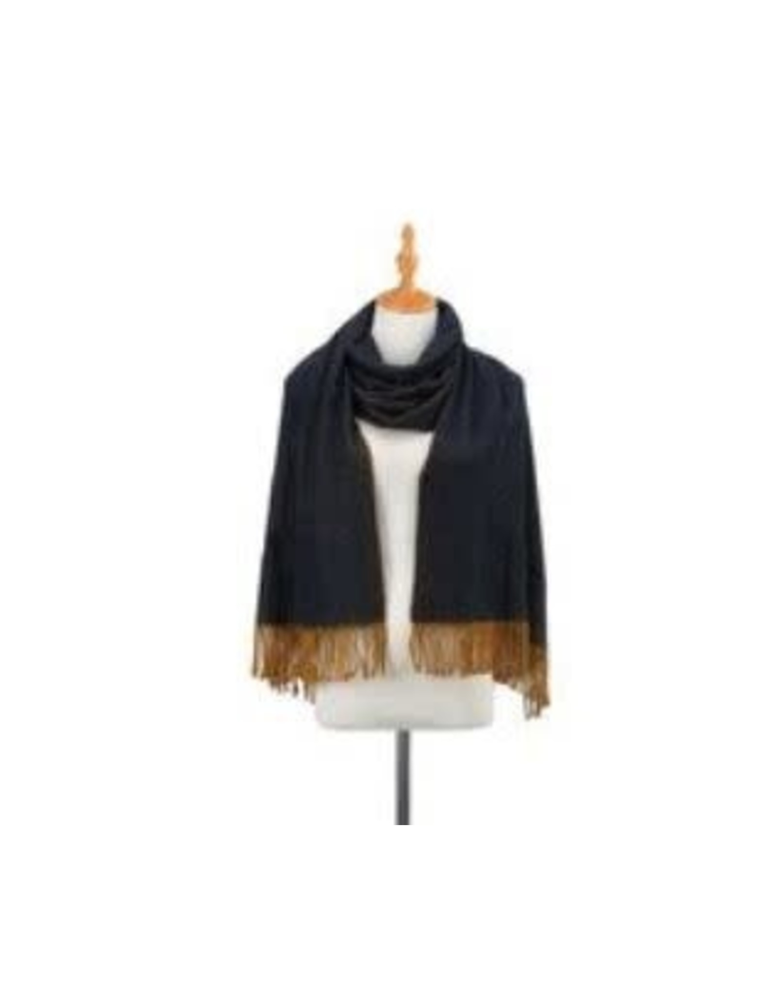 Demdaco GOLD NAVY BRUSHED SCARF