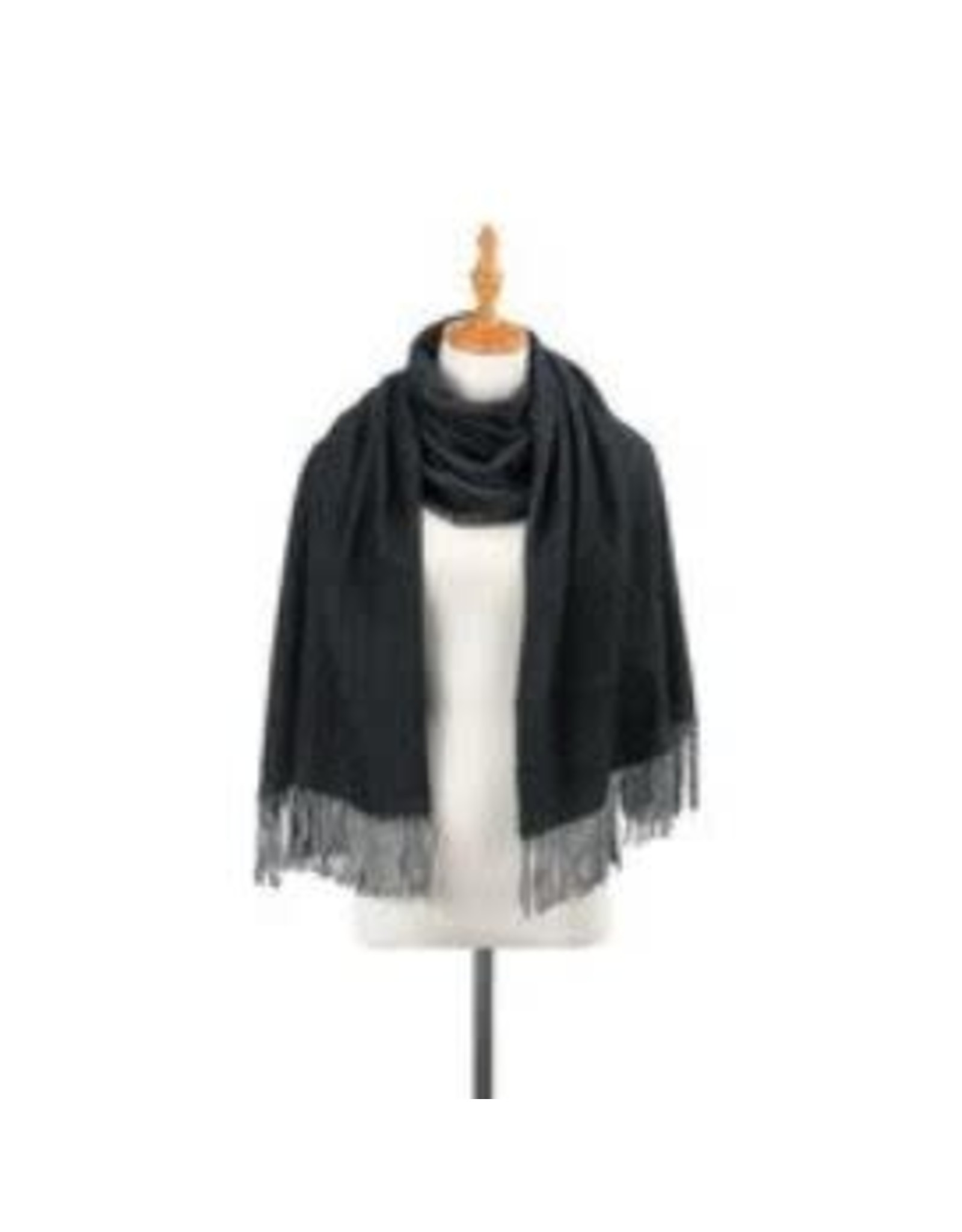 Demdaco GREY CHARCOAL BRUSHED SCARF