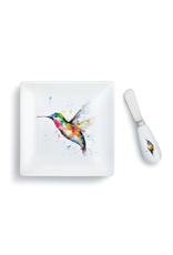 Demdaco HUMMINGBIRD PLATE WITH SPREADER