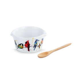 Demdaco LITTLE BIRDS BOWL WITH SPOON