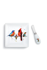 Demdaco LITTLE BIRDS PLATE AND SPREADER