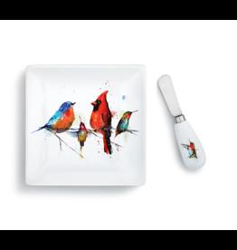 Demdaco LITTLE BIRDS PLATE AND SPREADER