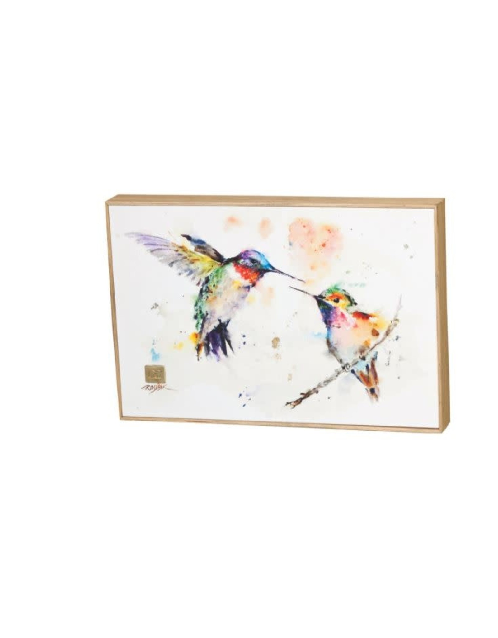 Demdaco LOVEBIRDS HUMMINGBIRDS WALL ART