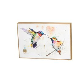 Demdaco LOVEBIRDS HUMMINGBIRDS WALL ART
