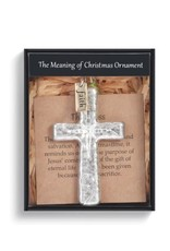 Demdaco MEANING OF CHRISTMAS CROSS ORNAMENT