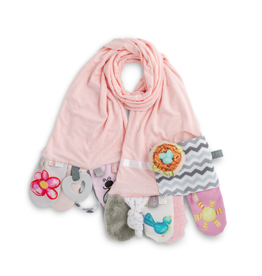 Demdaco MOMMY AND ME PINK ACTIVITY SCARF