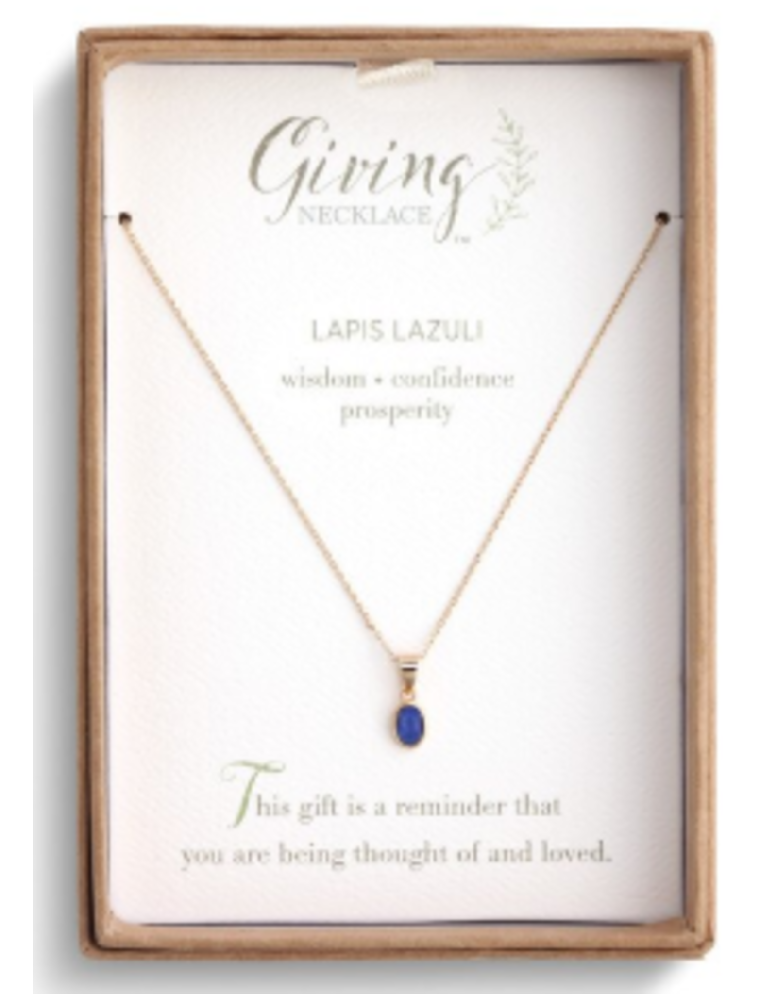 Demdaco LAPIS GOLD GIVING NECKLACE