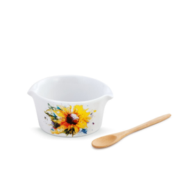 Demdaco SUNFLOWER BOWL WITH SPOON